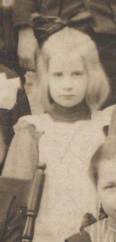 Irene Sayers, young school girl