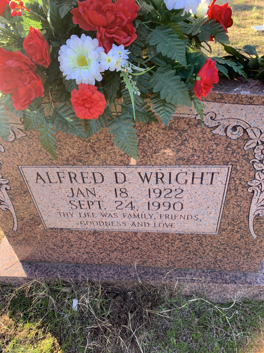 Alfred D Wright Gravesite