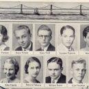 Josephine Evenson and Lowell High Seniors, 1933