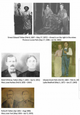Rufus R Totten Family