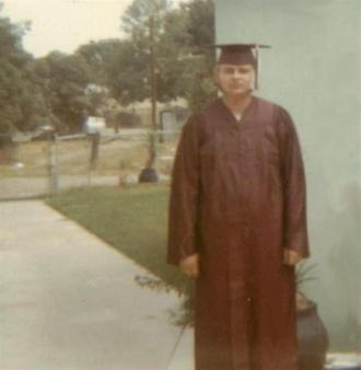 High School graduation day.  1972.