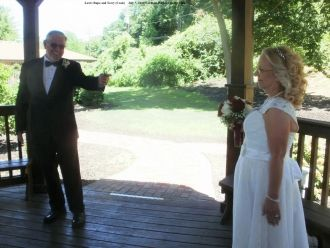 Lew Rupe and Terry (Cook), wedding