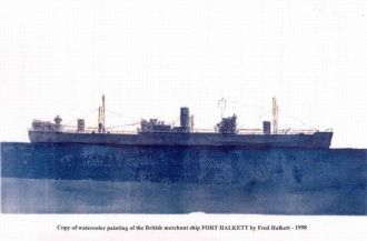 """Merchant Ship 'FORT HALKETT"""""""