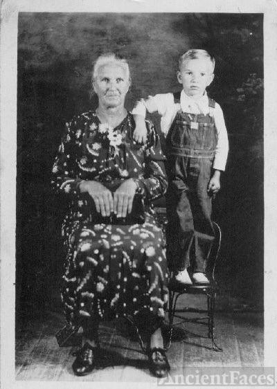 Elizabeth Eddy and grandson Johnnie