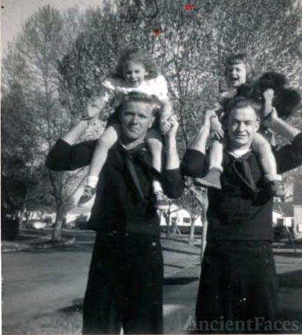 Bob Olson, Glen Heistand, and Kroetch girls