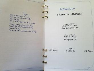 Victor A Marasti, Memorial