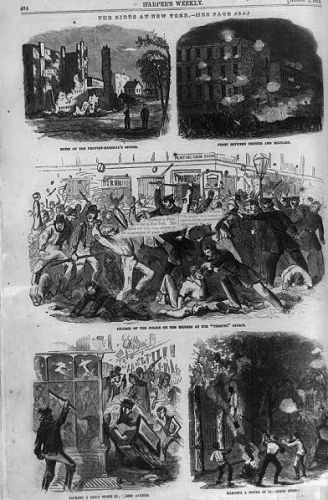 The riots at New York
