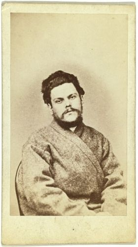 [Half-length portrait of a man, dressed in convict...
