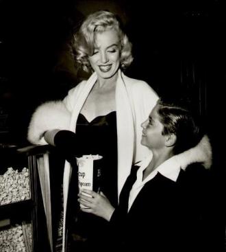 Tommy Rettig and Marilyn Monroe