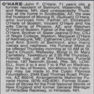 John Francis O'hare
