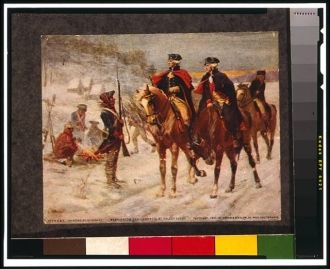 Washington and Lafayette at Valley Forge / painting by...