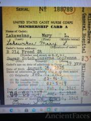 Cadet card