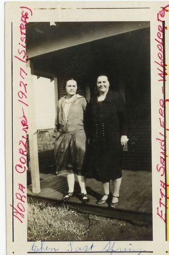 Nora Corzine and Etta Sandifer