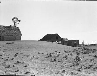 Dalhart Texas Farm, 1938 Dust Bowl