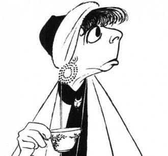 Bobo Lewis by Al Hirschfeld.