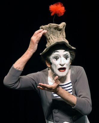 A photo of Marcel Marceau