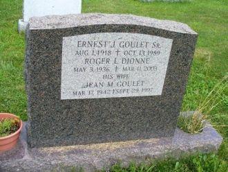 Ernest J Goulet gravesite