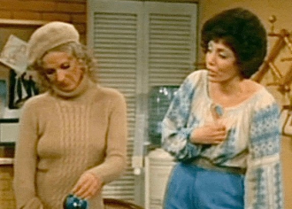 Barbara Colby on right on The Mary Tyler Moore Show.