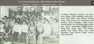 Albert Donald Wentz--U.S., School Yearbooks, 1900-1999(1986)