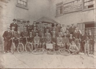 Early days of the cycling club