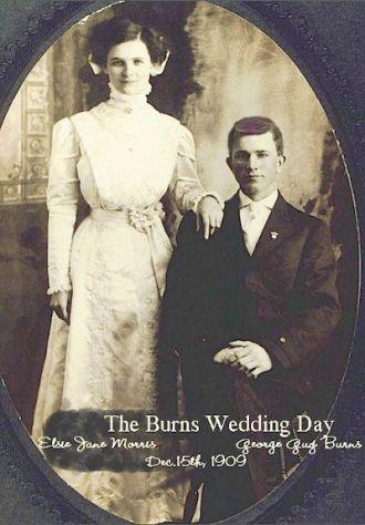 George Guy Burns & Elsie Jane Morris's Wedding