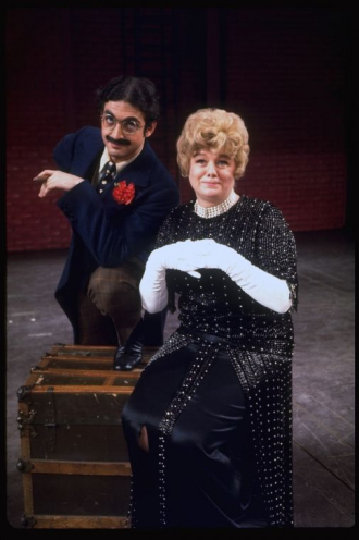 Shelley in MINNIE'S BOYS with Lewis Stadlen as Groucho Marx.