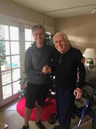 Lindsay Gardner with his father Gerald Gardner,