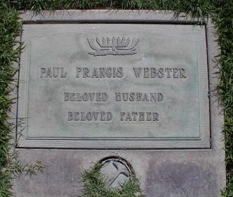 Paul Francis Webster gravesite