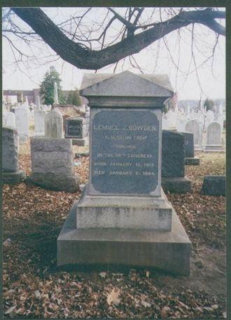 Lemuel Jackson Bowden Gravestone