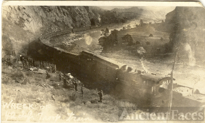 Wreck of H-2 Inf. Troop Train