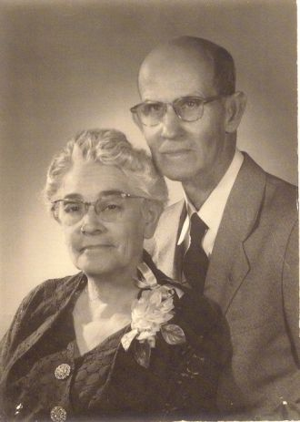 George Clark Snyder & Dove Avilla Osborn 50th wedding anniversary 1954