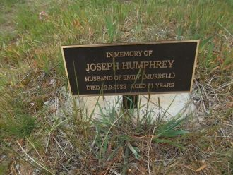 Joseph Humphrey gravesite