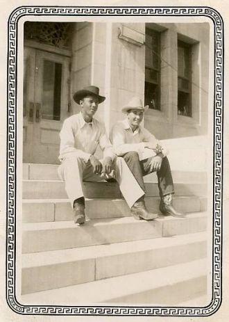 Harold Cates and Gib Roach
