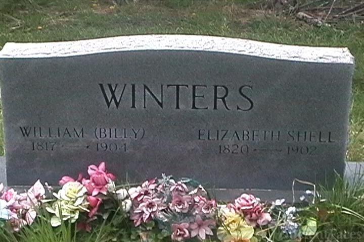 Grave William N. Billy Winters/Elizabeth Shell