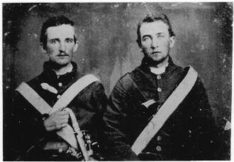 Private Miles Osborne Sherrill  on left