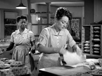 Butterfly McQueen and Joan Crawford