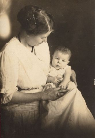 Mrs. Wayne with baby Jeanette
