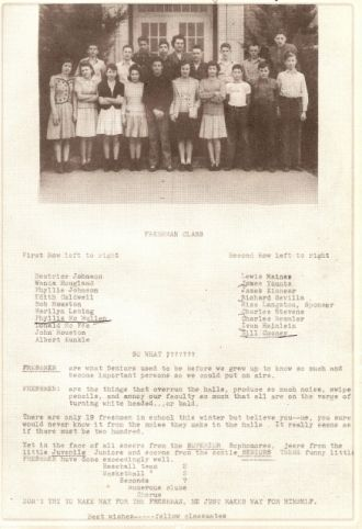 1944 Harrisburg IN High School Freshmen