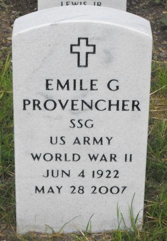 Emile G Provencher gravesite