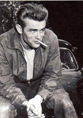 James Dean smoking cigarette