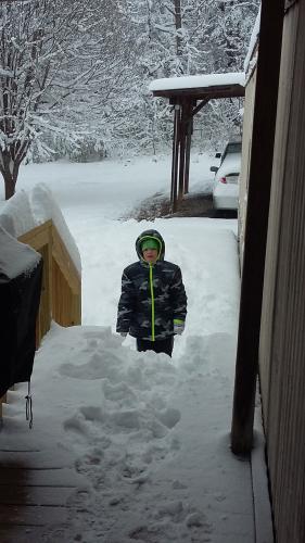 Darren Ray Mason in the snow