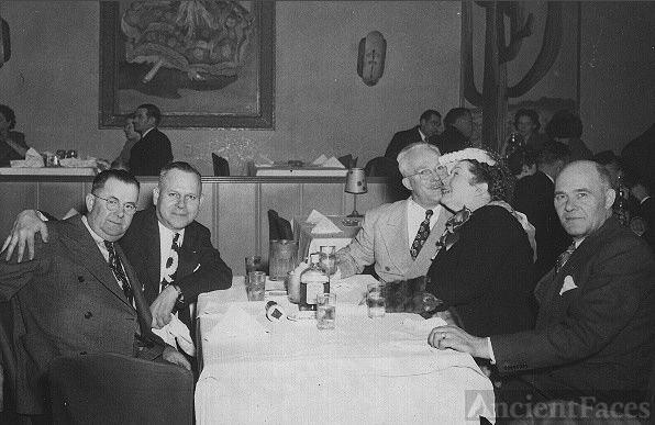 George Benning & friends at dinner
