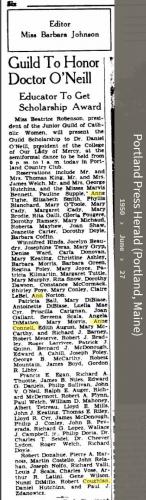 Anne Louise Connell-Coughlan--Portland Press Herald (Portland, Maine)(27 jun 1950)