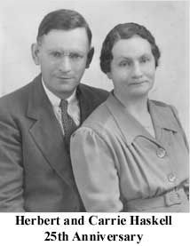 Herbert and Carrie (Pinkham)Haskell