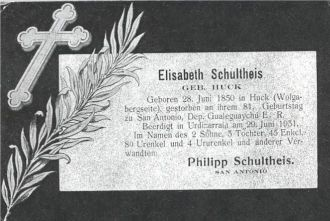Elisabeth Schultheis Obituary