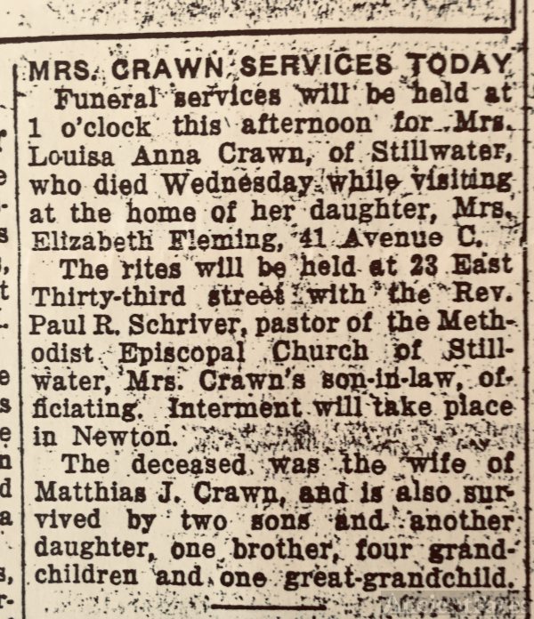 Louisa Rowe Crawn Obituary