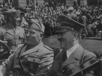 Adolf Hitler & Benito Mussolini, 1940