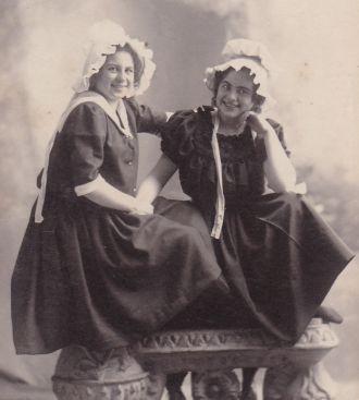 Florence Champlain and Pauline Benham