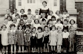 First Grade, Mill Creek, Indiana School, 1935-36