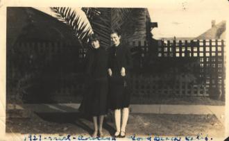 Two Women in Long Beach California 1927